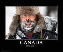 Canada snow beard