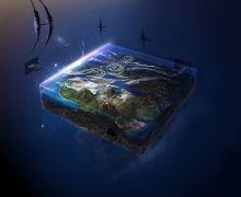 Space flat earth